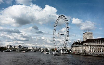 London eye an der Themse